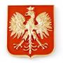 Aimant polonais embleme or