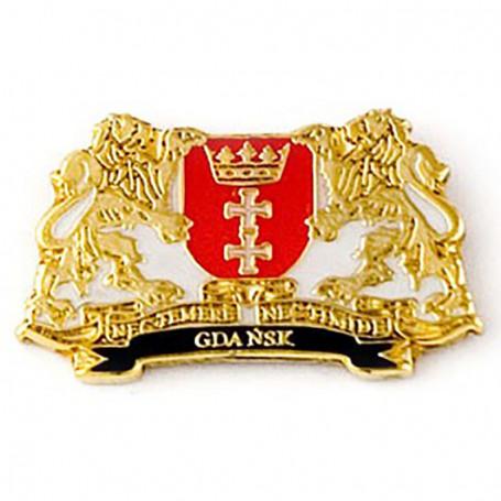 Botones, escudo de armas pin Gdańsk