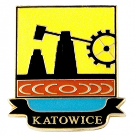 Arms of Katowice - pin