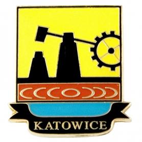 Przypinka, pin herb Katowice