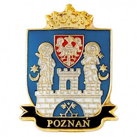 Pin, escudo de armas pin Poznań