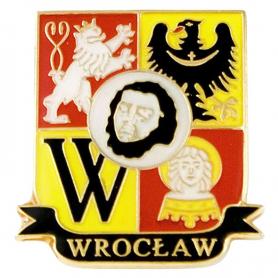 Pin, pin escudo de armas Wroclaw