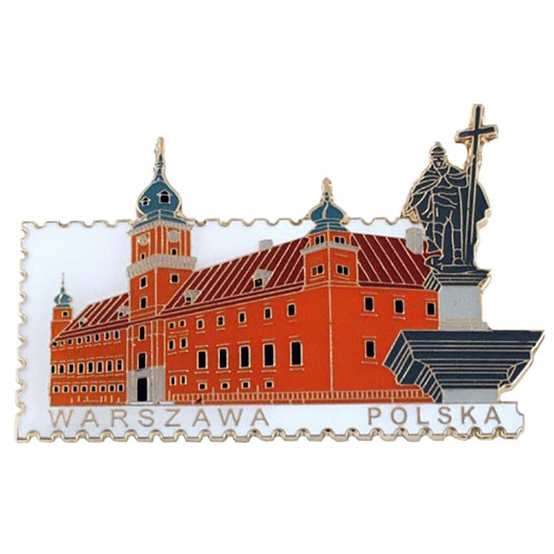 Magnes znaczek Warszawa, zamek