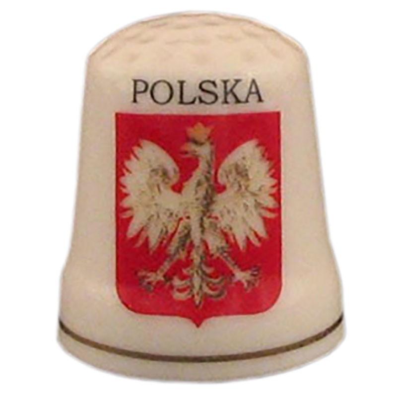Dé a coudre en céramique - Pologne, aigle