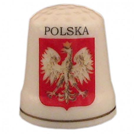 Dedal de cerámica - Polonia, águila