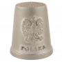Dé a coudre métallique - Pologne, aigle
