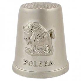 Naparstek metalowy - Polska, żubr