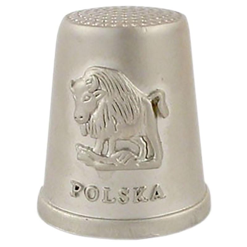 Dedal de metal - Polonia, bisonte