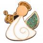 Przypinka, pin Aniołek z lirą