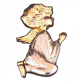 Metal angel on knees - brooch