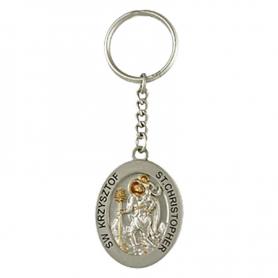 Keychain metal Saint Christopher