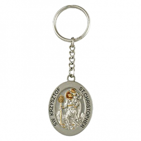 Llavero de metal Saint Christopher