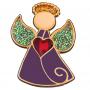 Przypinka, pin Aniołek z sercem
