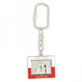 Rectangular Keychain Gdansk - The crane