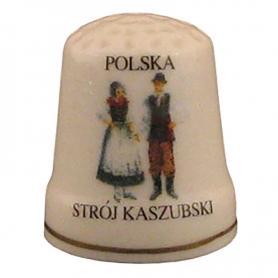 Ceramic thimble - dress Kashubian
