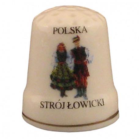 Dedal de cerámica - traje de Lowicz