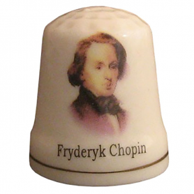 Ceramic thimble - Chopin