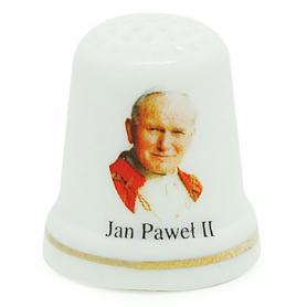 Keramik-Fingerhut - Johannes Paul II