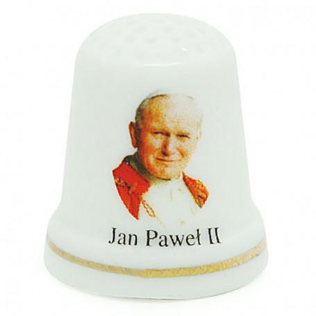 Dedal de cerámica - Juan Pablo II