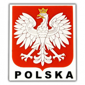 Gumos magnetas - lenku emblema