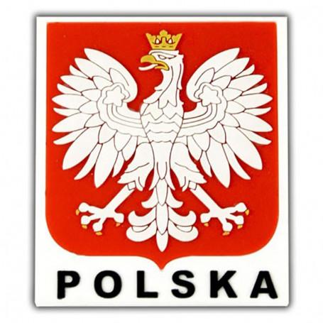 Imán de goma - emblema polaco