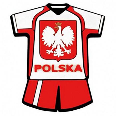 Imán de goma - uniforme de fútbol