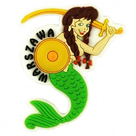 Imán de goma - Sirena