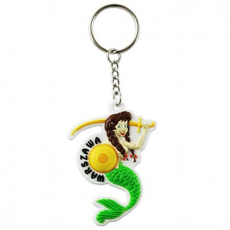 Gummi nyckelring - Mermaid