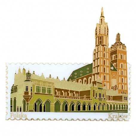 Magnet stamp Cracovie, Halle aux draps