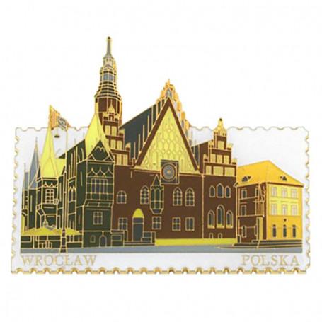Magnet stamp Wroclaw, Hôtel de Ville