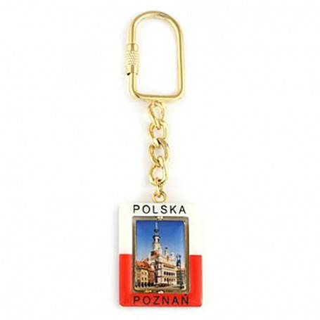 Stačiakampis raktu pakabukas Poznań