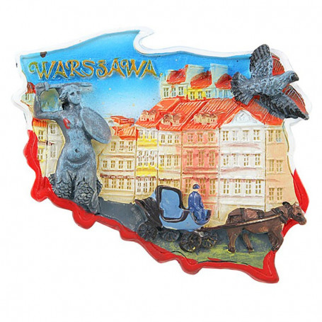 Contorno de imán del casco antiguo de Varsovia