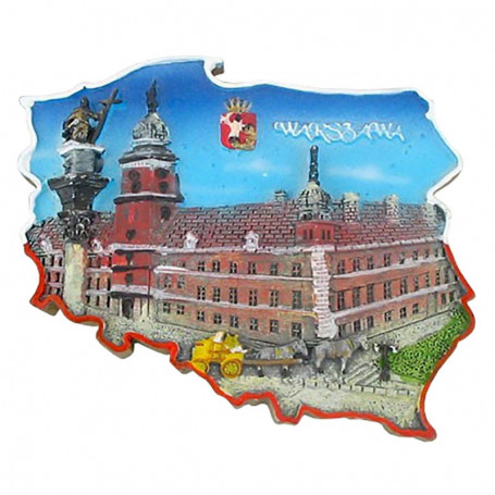Imán contorno Castillo de Varsovia