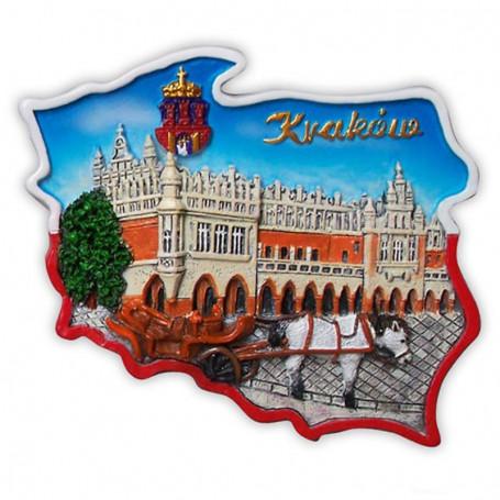 Magnetický obrys Kraków Cloth Hall