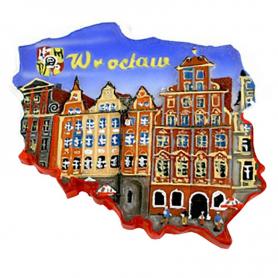 Esquema de imán del casco antiguo de Wroclaw