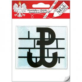 Car sticker - Poland Fighting, black