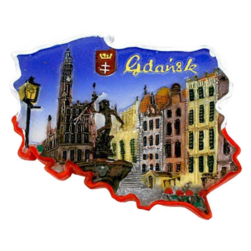 Imán contorno Gdańsk Neptun