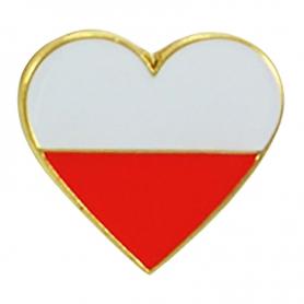 Przypinka, pin serce Polska
