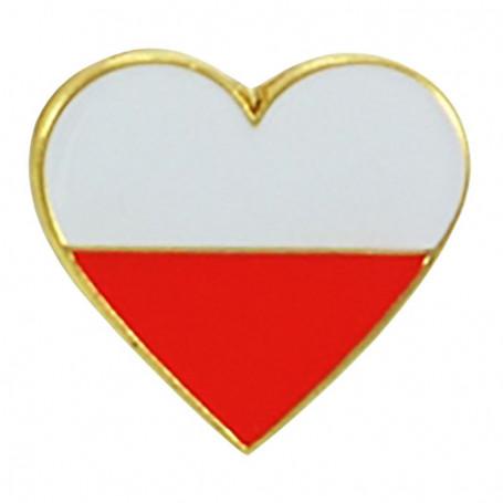 Pin, corazón pin Polonia
