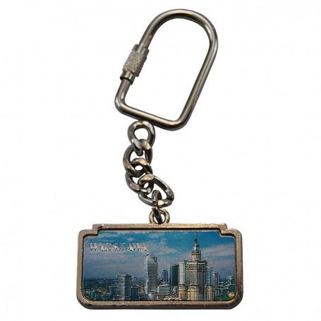 Porte-clés en métal, panorama de Varsovie