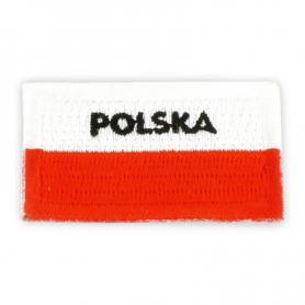 Vyšívaná náplast polská vlajka