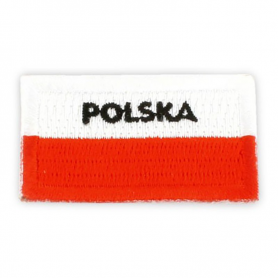 Vyšívaná náplasť Poľská vlajka