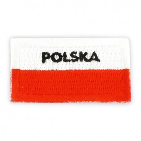 Patch brodé drapeau polonais