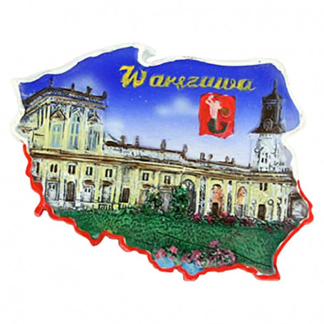 Aimant contour Varsovie Wilanów