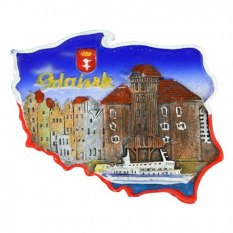 Aimant contour de la grue de Gdansk