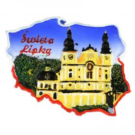Fridge magnet, Poland shaped, Swieta Lipka