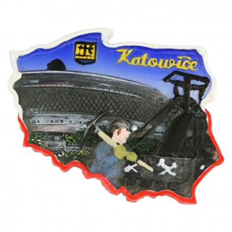Aimant contour Katowice
