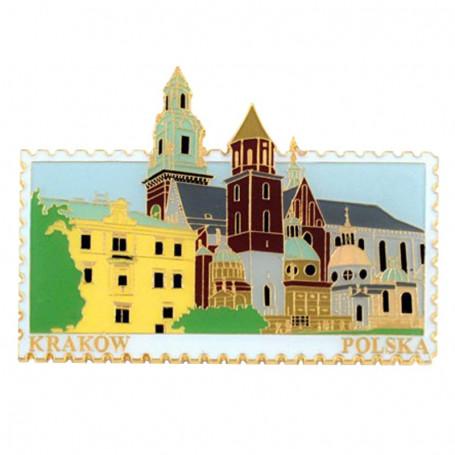 Magnes znaczek Kraków Wawel