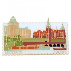 Fridge magnet stamp, Szczecin