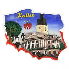 Fridge magnet, Poland shaped, Kalisz